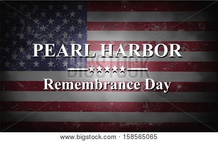 Pearl Harbor Remembrance Background with USA flag