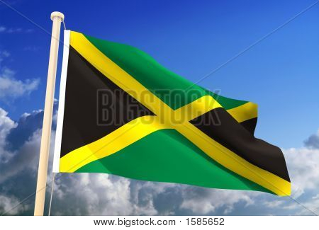 Jamaica Flag (Clipping Path)