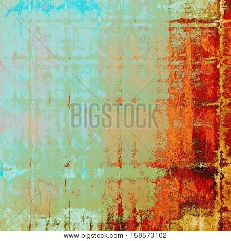 Grunge texture, detailed macro closeup, vintage composition. With different color patterns: yellow (beige); brown; blue; red (orange); cyan
