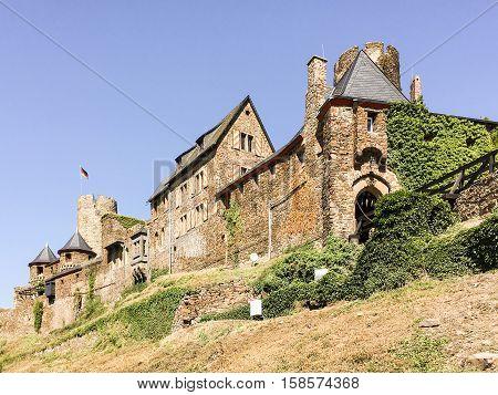 Castle Burg Thurant at Alken an der Mosel in Germany.