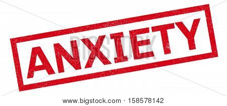 Anxiety Rubber Stamp