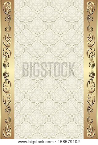 vintage background with antique ornaments - vector illustration
