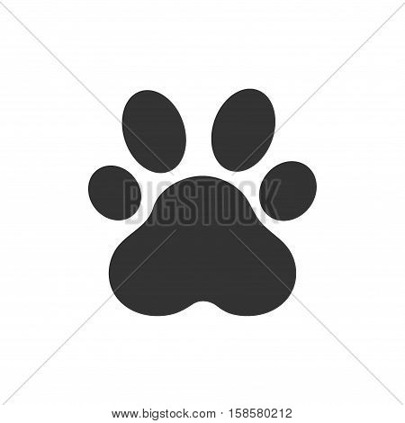Paw Print. Vector Illustration, Paw Print animal