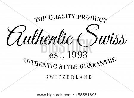 Authentic Swiss Product Stamp