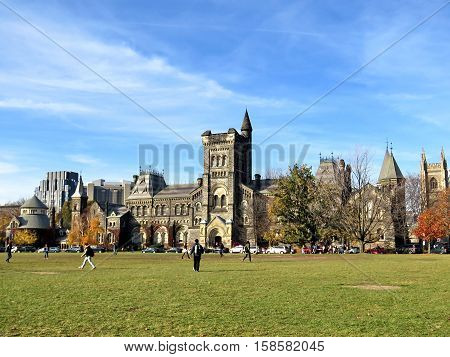Toronto Canada November 2016: College Circle in the University of Toronto.