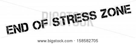 End Of Stress Zone Rubber Stamp