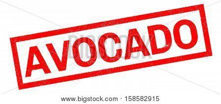 Avocado Rubber Stamp
