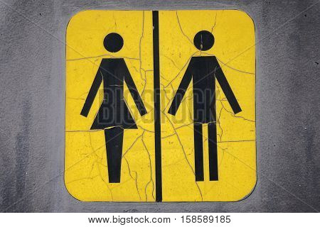 Unisex Restoom Sign with Male and Female