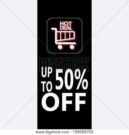 Sale discount sticker. Vector illustration. Black Friday Sale.