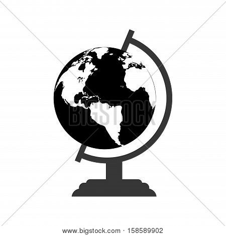 monochromatic globe map world earth business icon vector illustration eps 10