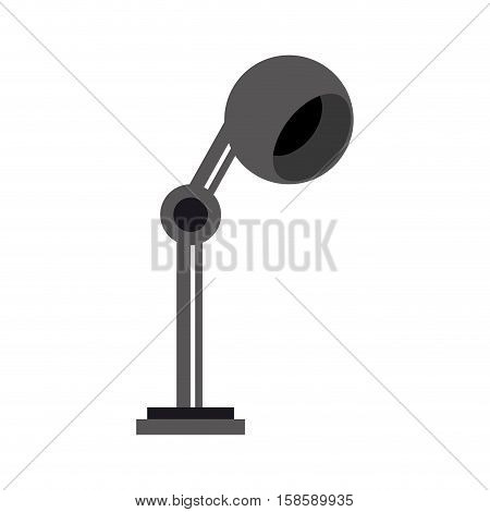 monochromatic lamp bulb light office icon vector illustration eps 10