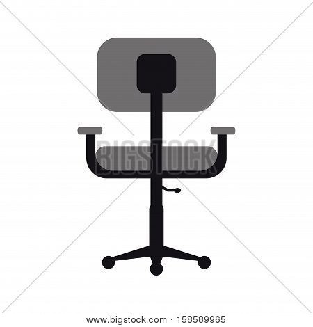 monochromatic chair office comfort workplace design vector illustration eps 10