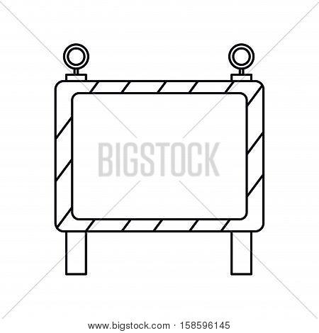 barricade safety maintenance work outline vector illustration eps 10