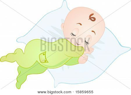 Sleeping Baby. Vector
