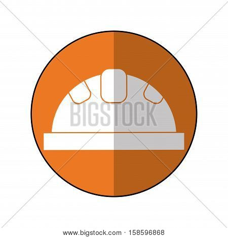 helmet protective head construction security shadow vector illustration eps 10