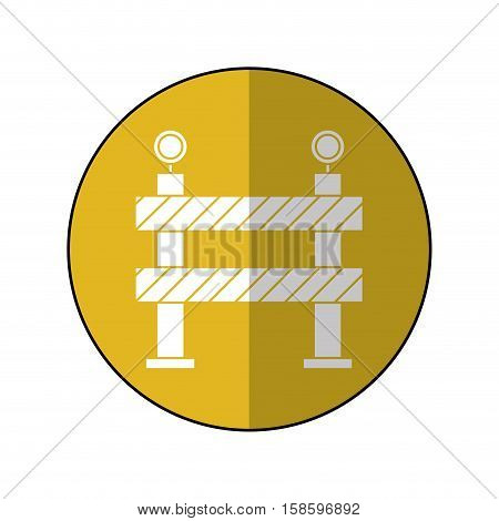 barrier restricted street stripe design yellow circle shadow vector illustration eps 10