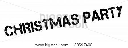 Christmas Party Rubber Stamp