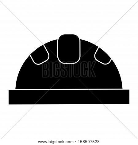 helmet protective head construction security pictogram vector illustration eps 10