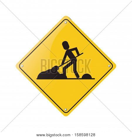 warning under construction repair sign vector illustration eps 10