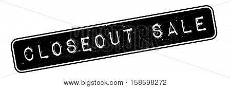 Closeout Sale Rubber Stamp