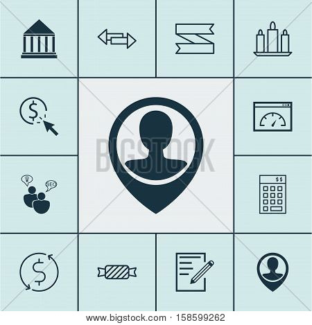 Set Of 12 Universal Editable Icons. Can Be Used For Web, Mobile And App Design. Includes Icons Such As Investment, Education Center, Crossroad And More.