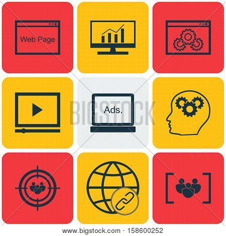 Set Of Marketing Icons On Website Performance, Digital Media And Connectivity Topics. Editable Vector Illustration. Includes Digital, Performance, Link And More Vector Icons.