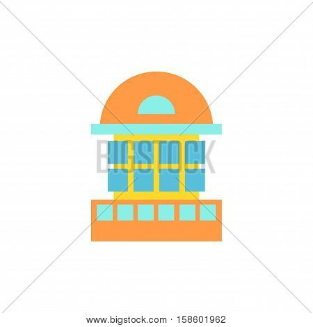 Building, House And Architecture Object. Business Property. Urban Element In Cartoon Style. Icon Of