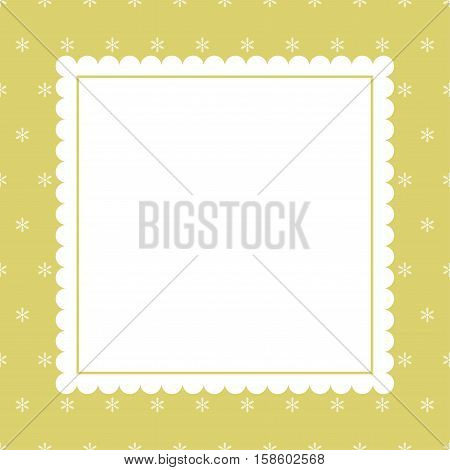 Elegant Christmas background with snowflakes. Vector card.
