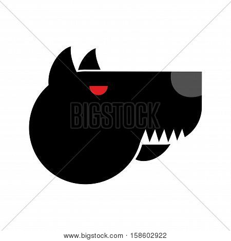 Doberman Logo. Angry Dog Emblem. Aggressive Pet. Sign For Security Agency