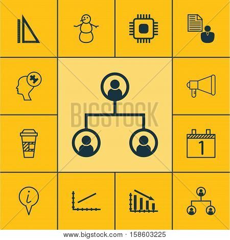Set Of 12 Universal Editable Icons. Can Be Used For Web, Mobile And App Design. Includes Icons Such As Agenda, Info Pointer, Fail Graph And More.