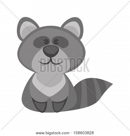 badger funny cartoon character. Cute icon of wild animal from forest in flat design. Vector illustration isolated on white background.
