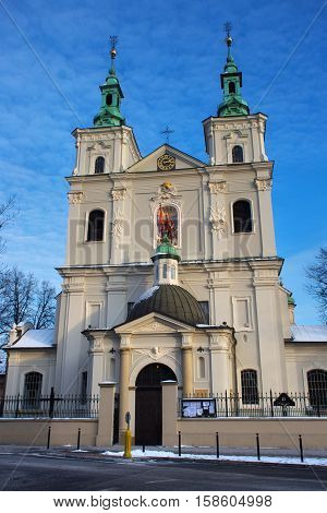 Collegiate Church of St. Florian in the historical part of Krakow. Church was built between 1185 and 1216. Present appearance is the result of a Baroque renovation.