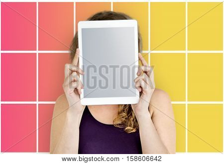 Person Holding Tablet Face
