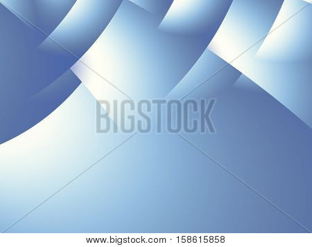 Blue and white gradient fractal with stylized overlapping pages. Text space. For layouts web design templates skins leaflets pamphlets presentations book covers PC or phone backgrounds.