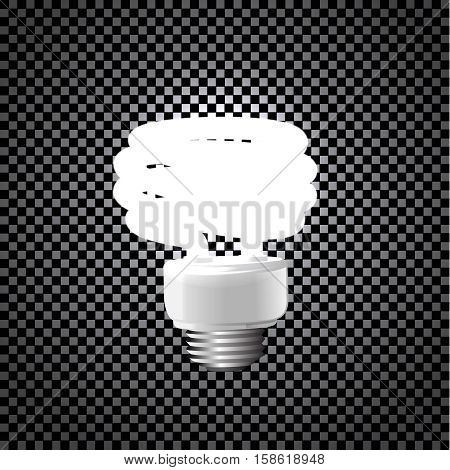 Illustration of an energy saving compact fluorescent lightbulb