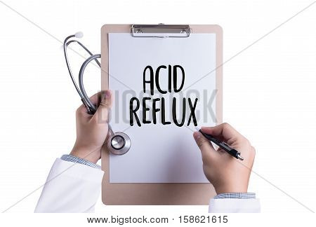 ACID REFLUX Heartburn and Gastroesophageal Reflux Disease (GERD) reflux acids symptomatic acid reflux Acid Reflux - Printed Diagnosis