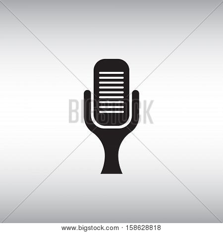 Microphone vector icon. Isolated microphone vector sign. Flat vector microphone illustration.