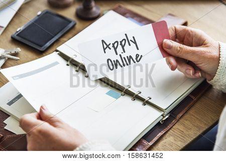 Apply Online Registration Application Networking Online Concept