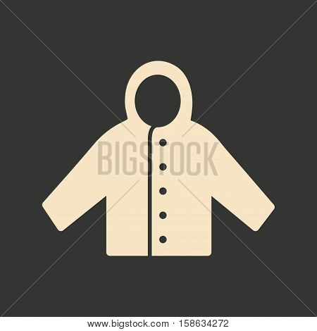Flat in black and white mobile application raincoat