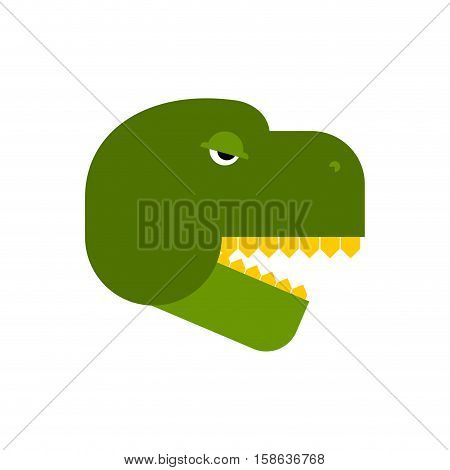 Tyrannosaurus Face. Angry Dinosaur Head. T-rex Front