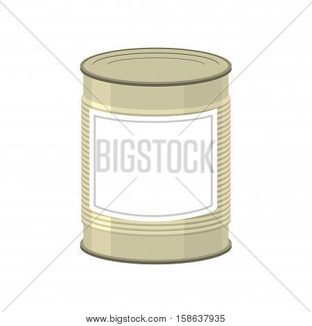 Cans Isolated. Tin Bank On White Background