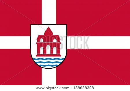 Flag of Sonderborg in Southern Denmark Region