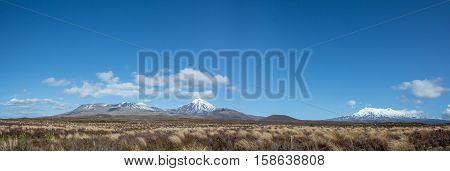 Panorama Landscape Tongariro National Park New Zealand