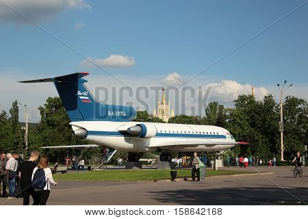 Russia, Moscow 25 May 2016, Yak 42 at the VDNKh in Moscow