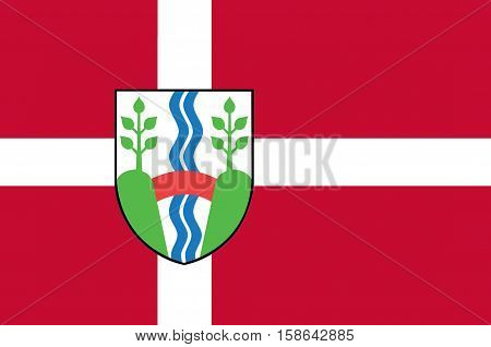 Flag of Vejle in Southern Denmark Region