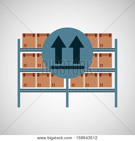 warehouse box fragil symbol vector illustration eps 10
