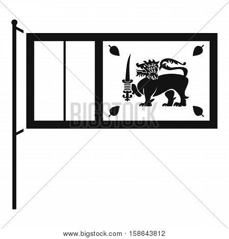 Flag of Sri Lanka icon. Simple illustration of flag of Sri Lanka vector icon for web