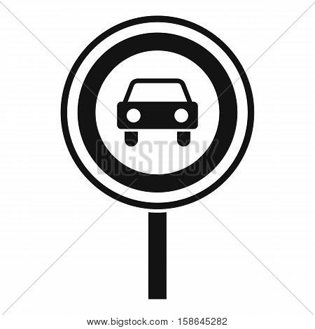 Prohibiting traffic sign icon. Simple illustration of prohibiting traffic sign vector icon for web