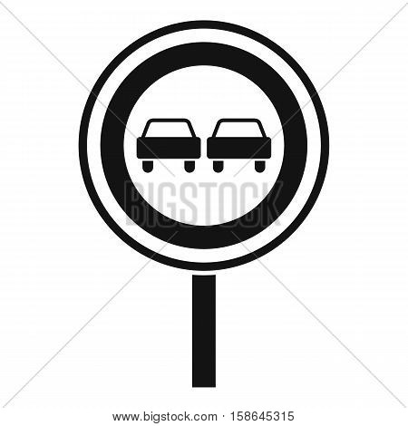 No overtaking sign icon. Simple illustration of no overtaking sign vector icon for web