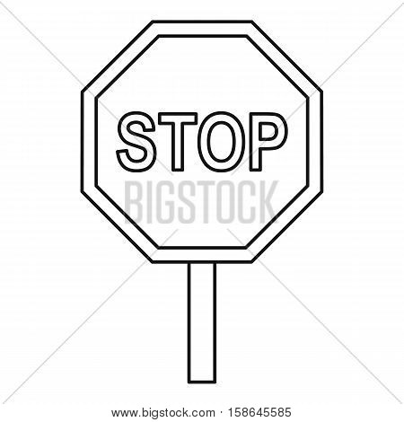 Stop traffic sign icon. Outline illustration of stop traffic sign vector icon for web